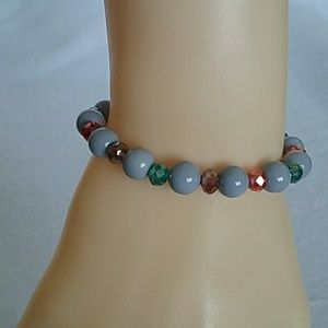 NWT Multi color and gray bracelet